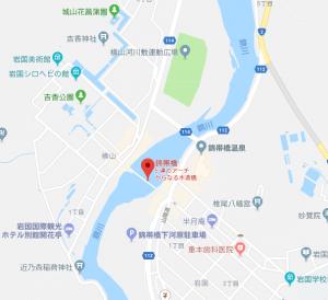 錦帯橋の駐車場