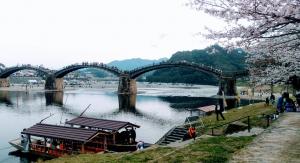 錦帯橋,屋形船